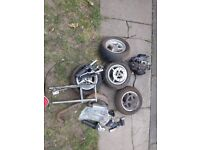Mini moto spares. Engine. Wheels. Chains. Forks. Exhaust.