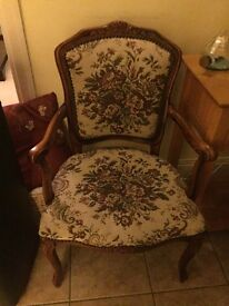Vintage Small Upholstered Armchair Retro Furniture Traditional