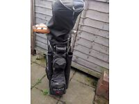 Set of Ram golf club's with bag and trolley