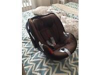 Cybex Aton Q infant car seat used rare colour