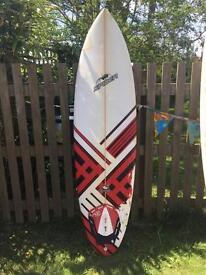 Spider bomb 6'8 surf board