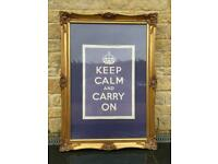Large guilt style picture frame (with print)