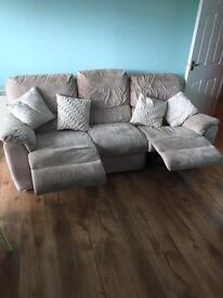 Three seater electric recliner sofa
