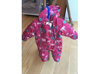 BNWT Joules Waterproof Snowsuit 3-6 mths