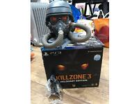 Killzone 3 Helghast Edition Figure, statue head and art book. Mint condition. Boxed. RARE