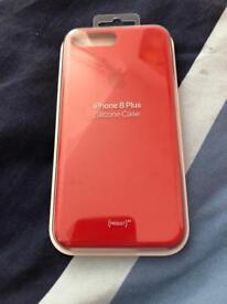 *Genuine* iPhone 8plus Silicone Case (RED Edition)