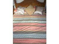 Dunelm King Size Duvet Cover x 2 and matching Curtains