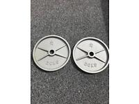 2X 20KG STRENGTH SHOP OLYMPIC WEIGHTS