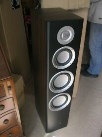 QUALITY PAIR OF NEW 'M A STUDIO' TALL SPEAKERS WITH STANDS. VIEWING/DELIVERY AVAILABLE