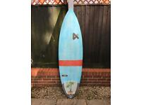 Fourth Doofer surfboard. 6ft by 20 inch by 2 5/8