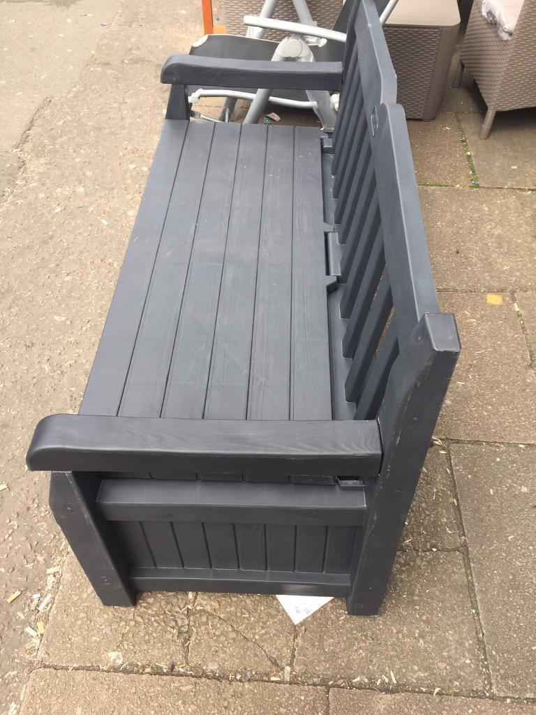 Keter Madison Wood Effect Storage Bench Grey In Coventry West Midlands Gumtree