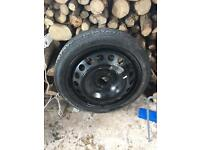 space saver wheel Vauxhall Opel Astra corsa 4 stud