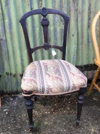 Single vintage oak chair