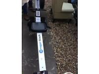 Roger Black - rowing machine.