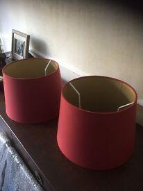 Laura Ashley Cranberry lamp shades x2