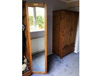 Antique Pine Bedroom Furniture Suite - Ducal