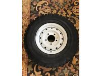 Michelin Tyre with White Steel Land Rover Defender Alloy 16""