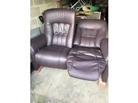 Himolla reclining two seater sofa for sale