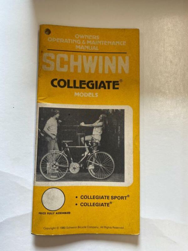 1979 Schwinn COLLEGIATE Bicycle OWNERS MANUAL