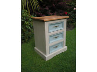 Shabby chic corona pine bedside drawers