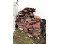 Approx 250 Red clay roof tiles