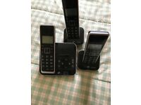 BT Home Phone with Answering Machine Xenon 1500 Box contains 3 phones very good condition £20.00