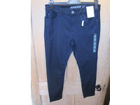 New Marks and Spencer extra short jeggings navy size 14