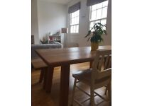 8 seater kitchen table, originally £1800 with bench and chairs