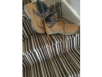 JCB work steel cap boots size 9 worn for 1 day