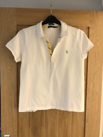 Women's Ralph Lauren white polo top