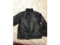 Boys Next leather jacket age 9