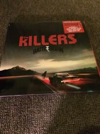 THE KILLERS BATTLEGROUND LP VINYL RED DOUBLE RECORD PLUS BOOKLET AND POSTER CAN POST UK