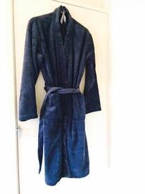 Men's navy dressing gown