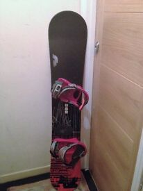 Snowboards and bindings. 158cm and 156cm very good cond