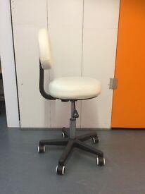 modern white hydraulic stool