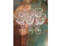 Crystal Liquer Glasses