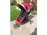Baby Jogger City Mini pushchair, raincover and footmuff