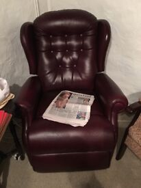 Leather lecture arm chair
