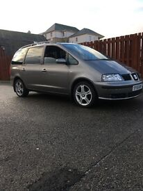 Seat Alhambra pd 130 tdi diesel 7 seater with baby seat built in