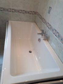 Brand new Carron bath 1700x800 with bath mixer taps and waste