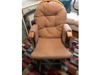 Habebe rocking nursery chair with foot stool