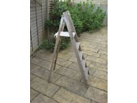 Set of antique wooden step ladders