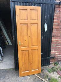 Internal solid pine door and furniture