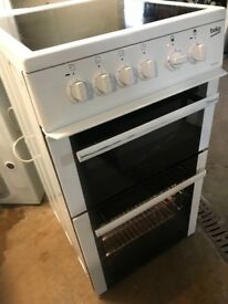 BEKO 50cm Wide Electric Ceramic Cooker