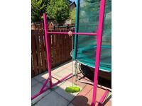 Gymnastics bars adjustable