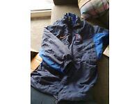 Rangers football club coat, fleece and strip