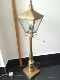 Vintage brass 3ft lamp, station lamp post style. great Xmas Gift