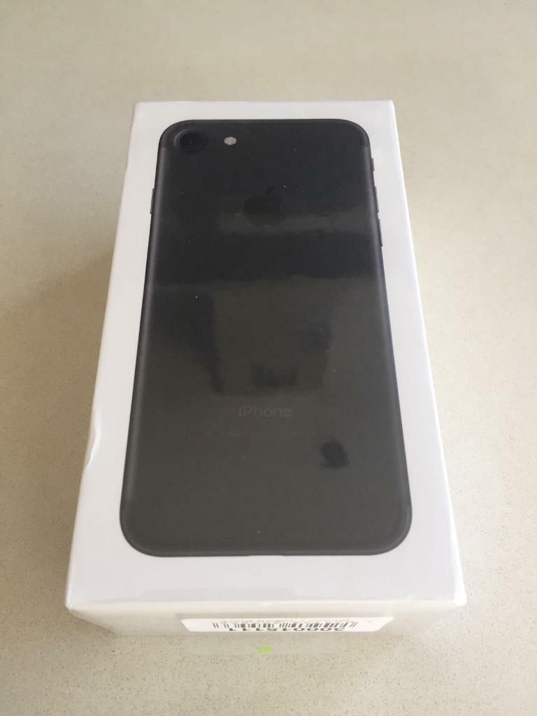 Brand New Sealed Matte Black iPhone 7 128GB EE TMobile Orange