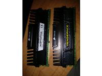 Corsair Vengeance 8GB (2X4GB) 1600Mhz 9-9-9-24 *Performance PC RAM Kit*