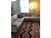 Free large leather corner sofa- good quality